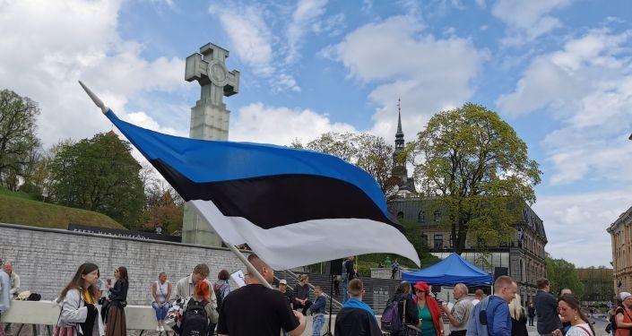 Ни шагу назад! Эстонский антиправительственный митинг вдруг заговорил по-русски