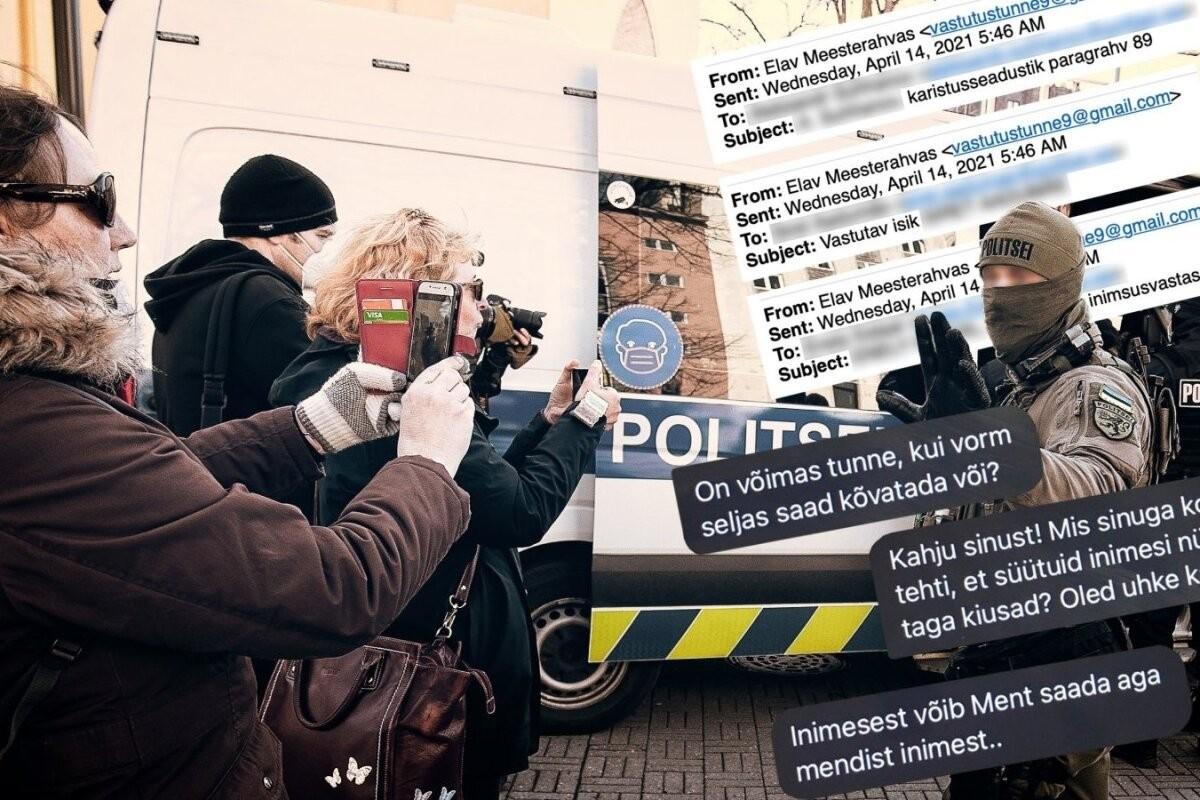 Психологический террор: протестующие против коронавирусных штрафов шлют полицейским письма с угрозами