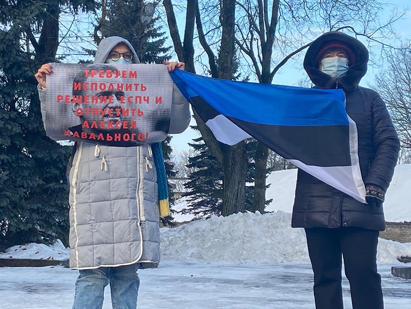 Российского оппозиционера поддержали в Нарве