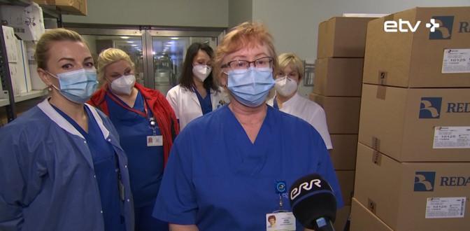 Жители Сааремаа отправили таллиннским врачам в знак благодарности 2500 подарочных наборов