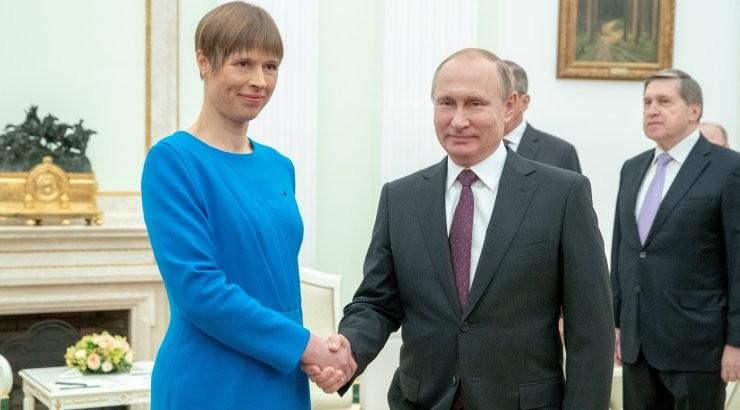 Путин поздравил президента Кальюлайд и жителей Эстонии с Днем независимости