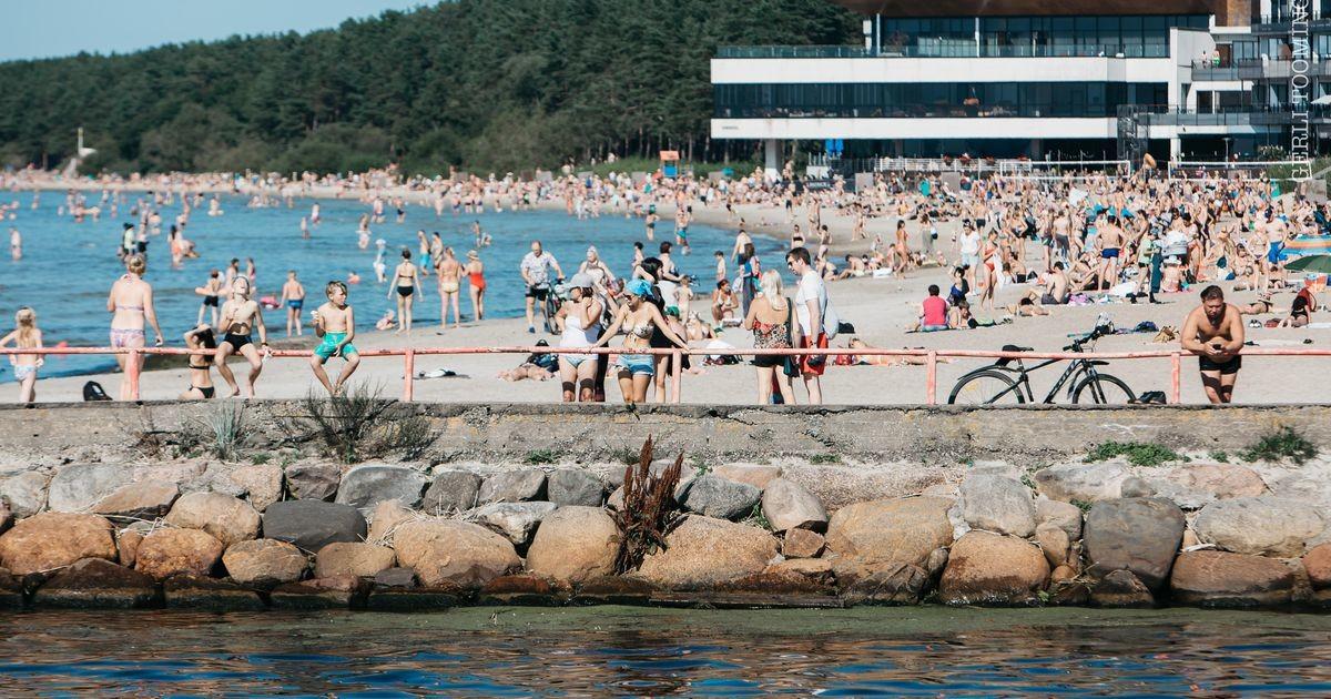 Температура воды в Эстонии поднялась до 22 градусов!