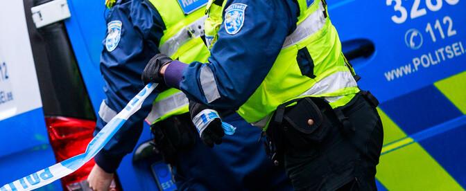 В Пярнумаа молодой человек ударил полицейского
