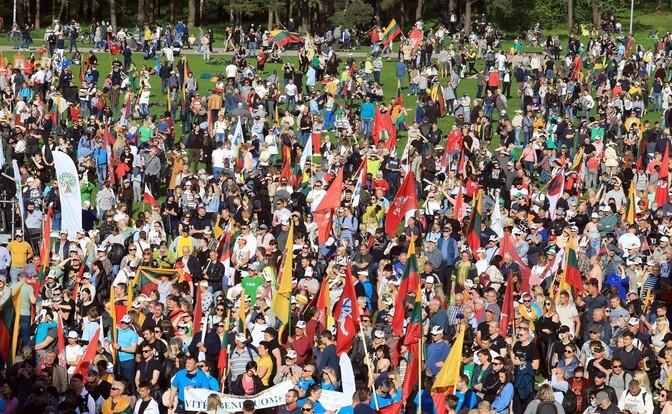 В Вильнюсе прошли массовые протесты против легализации однополых союзов