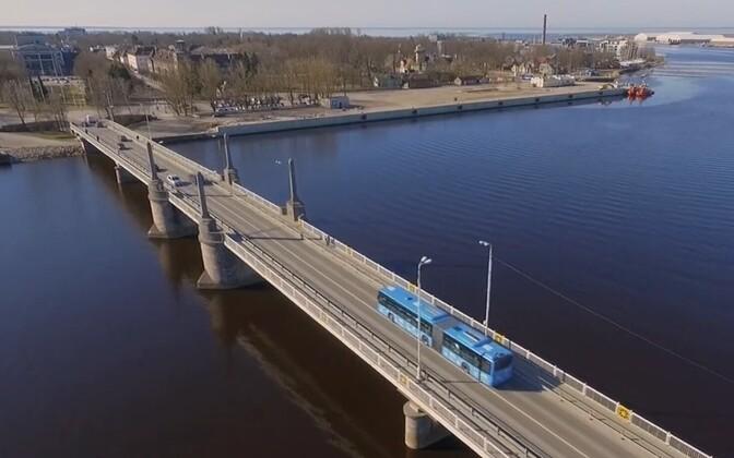 В Пярну начинается ремонт Кесклиннаского моста