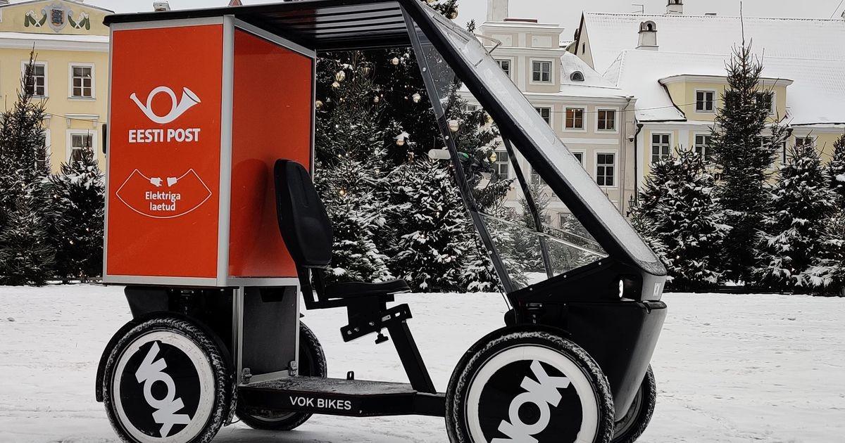 Eesti Post тестирует доставку отправлений на электрических грузовелосипедах