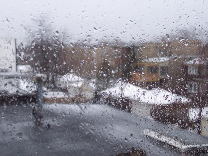 В воскресенье возможен мокрый снег