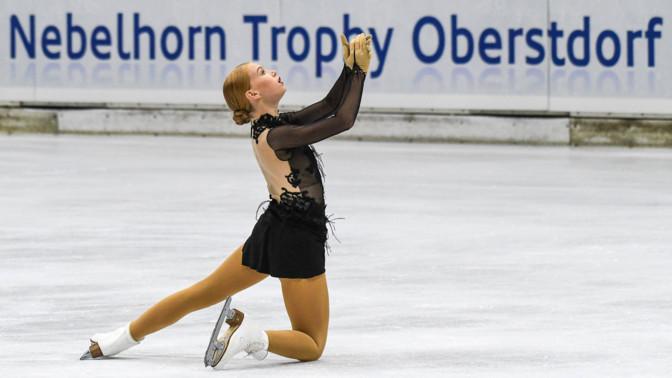 Фигуристка Эва-Лотта Кийбус с личным рекордом заняла второе место на турнире в Будапеште