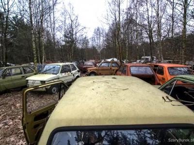 Под Варшавой нашли кучу брошенных «Москвичей» и «Запорожцев»