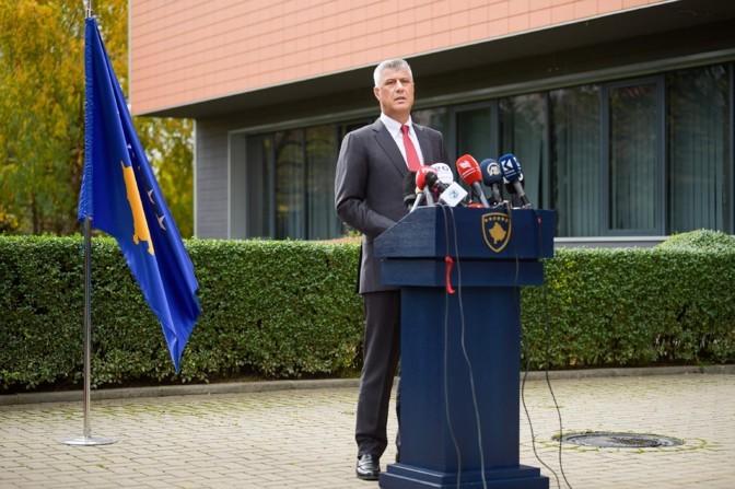 Президент Косово Хашим Тачи подал в отставку из-за обвинений в военных преступлениях