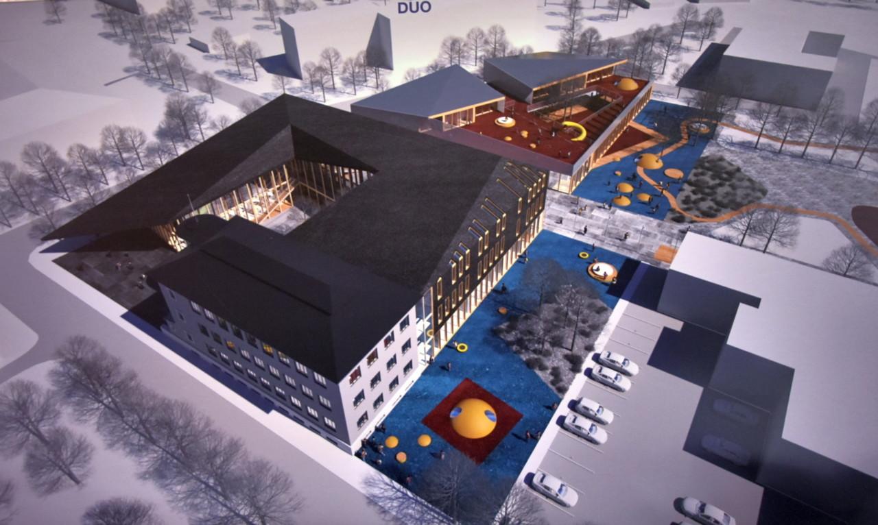 По проекту Duo в Нарве на улице Краави построят современный учебный комплекс