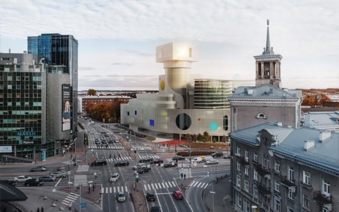 На перекрестке у торгового центра Stockmann возведут бюро с башней