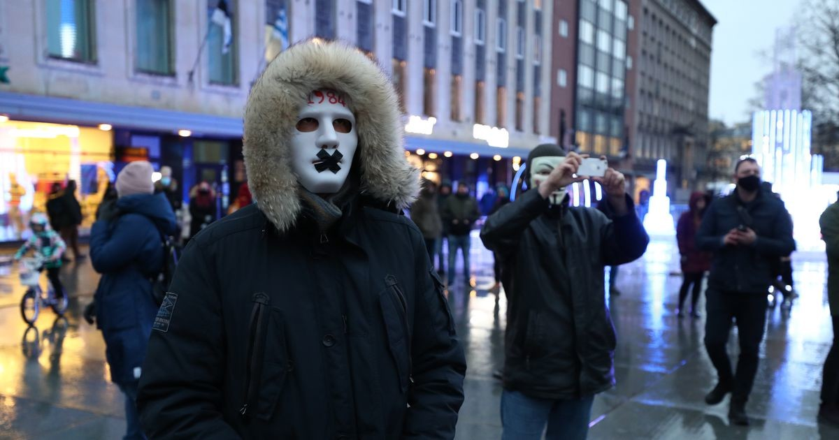 Антимасочники вышли на акцию протеста