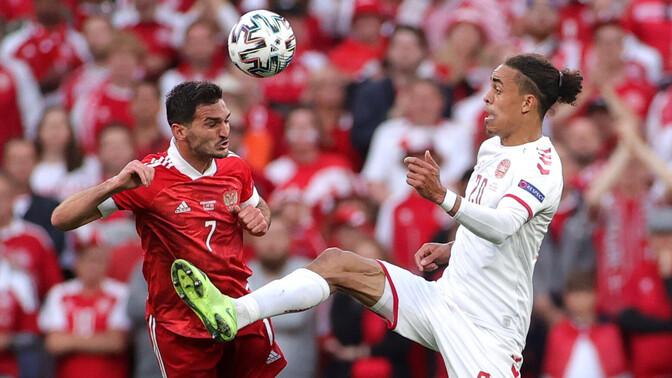 LIVE: на Евро-2020 сборная России проигрывает Дании – 1:2
