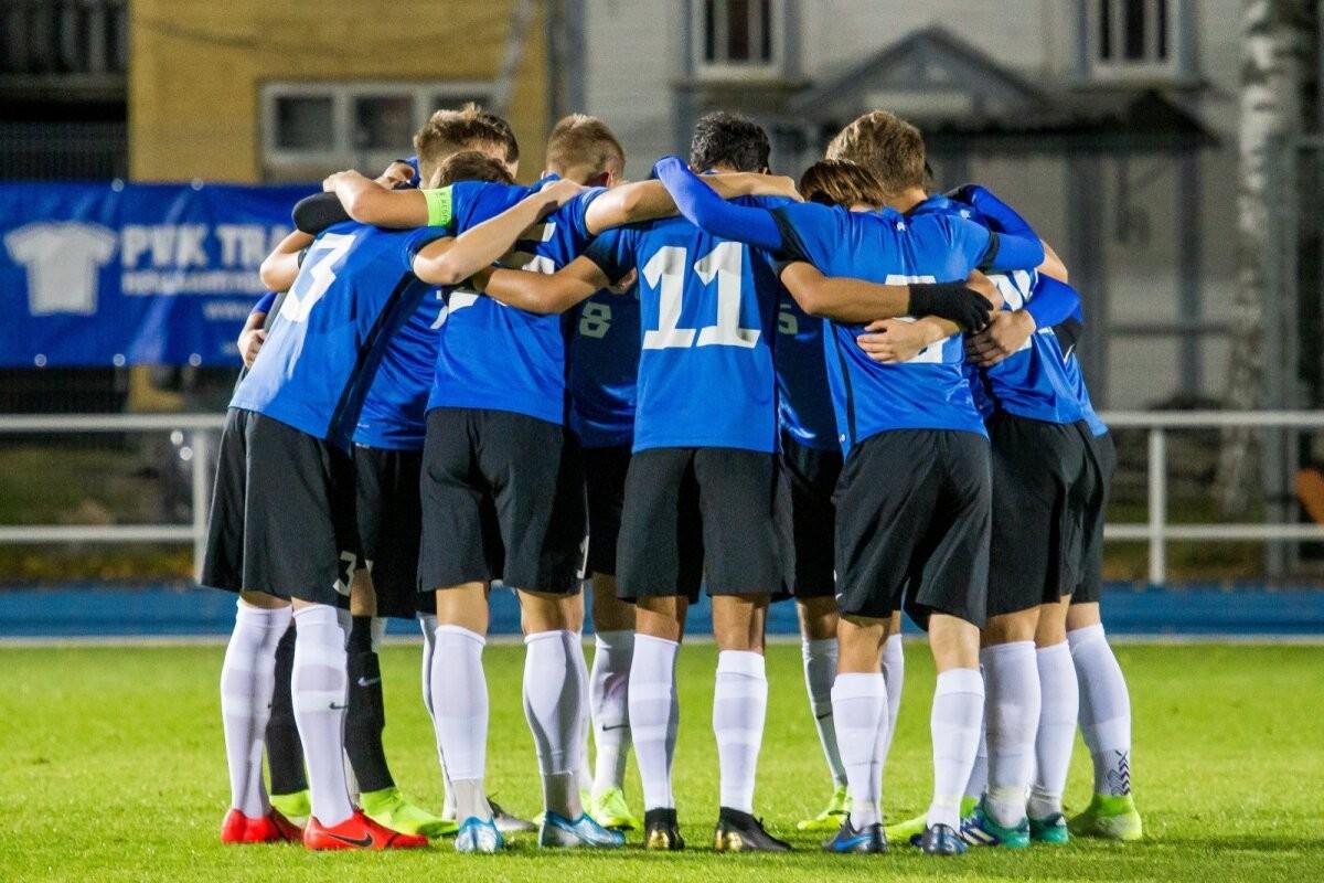 Молодежная сборная Эстонии неудачно начала отборочный цикл