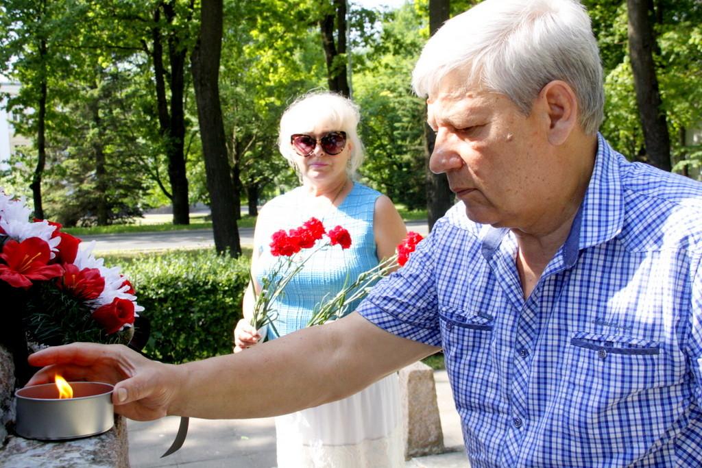 В эстонском Кохтла-Ярве вспоминали годовщину начала войны