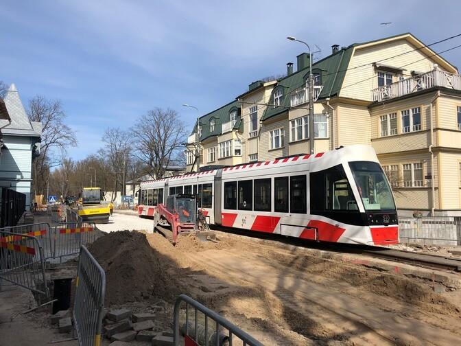 Из-за ремонтных работ с 14 по 21 июня не будут ходить трамваи в Кадриорг