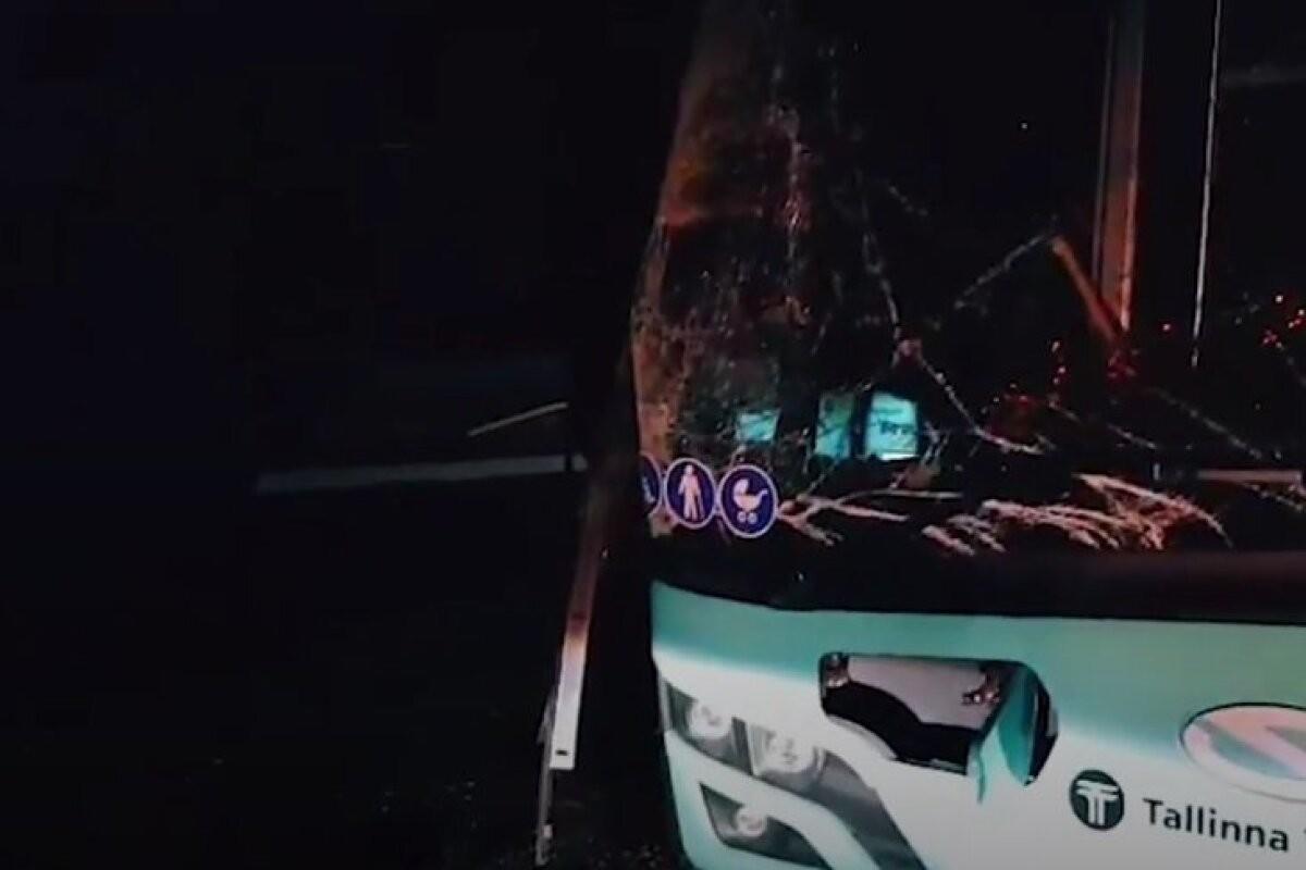 ВИДЕО   В таллиннском автобусном депо ремонт закончился аварией — водитель врезался в другие автобусы