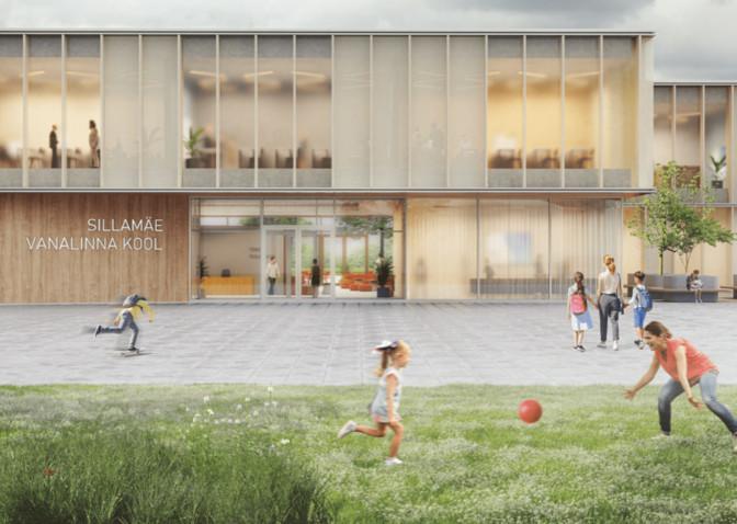 Заключен договор на строительство нового здания Ваналиннаской школы в Силламяэ