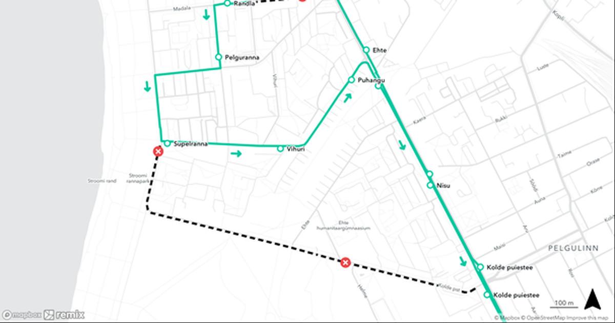 Автобус из Пыхья-Таллинна в Ласнамяэ будет полтора месяца ходить в объезд