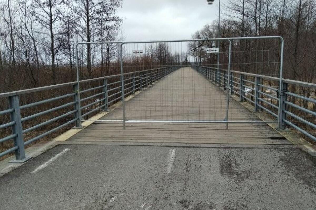 Мост прибрежного променада Рокка-аль-Маре на время строительных работ закрыт для движения