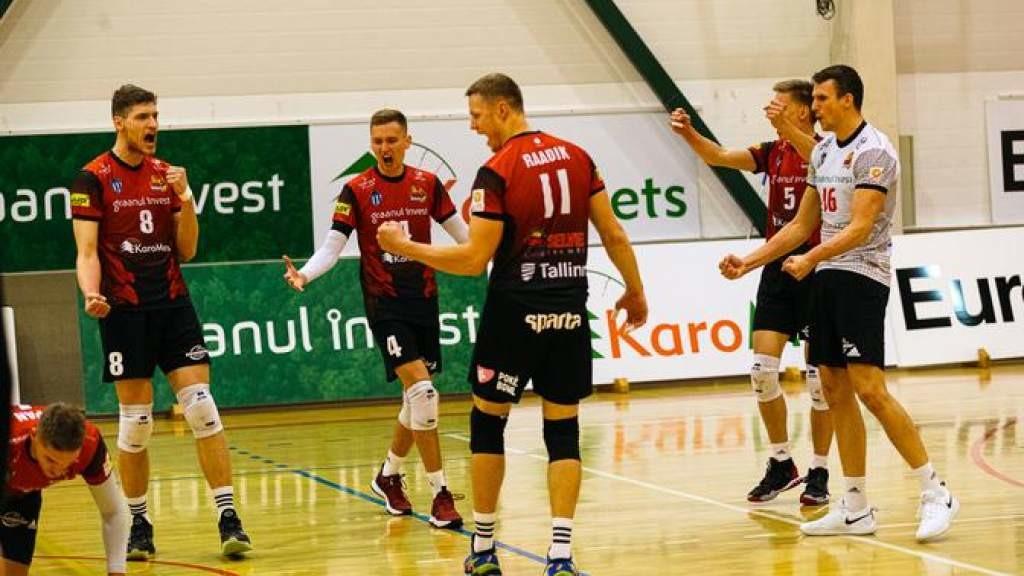 Таллиннский «Сельвер» обыграл «Пярну» в первом матче серии за бронзовые медали ЧЭ по волейболу