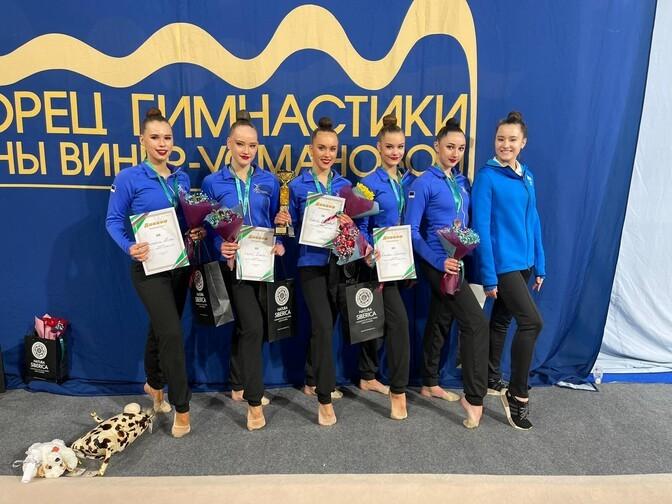 Сборная Эстонии по художественной гимнастике завоевала бронзу на Гран-при Москвы