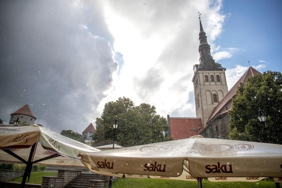 Недолго музыка играла: на Эстонию надвигаются дожди и грозы