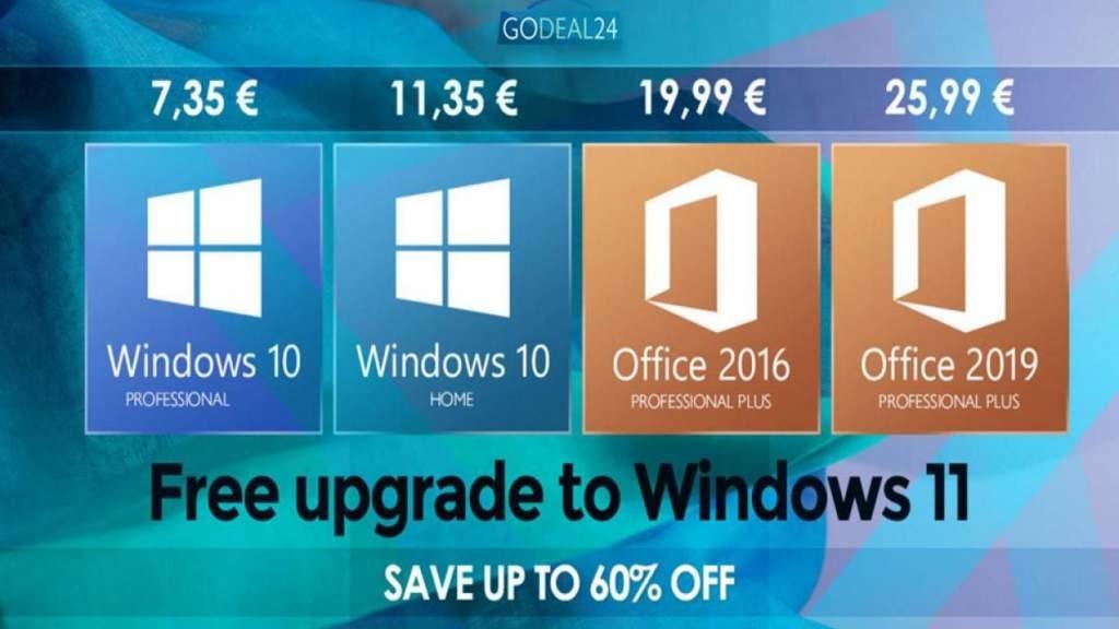 Скидки на Windows 10 или 11 во время осенней распродажи GoDeal24