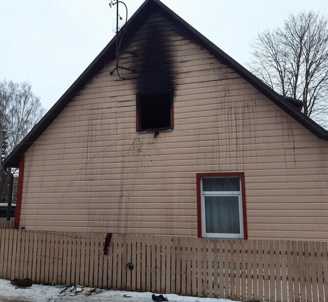 При пожаре в Тарту погибли пожилые мужчина и женщина