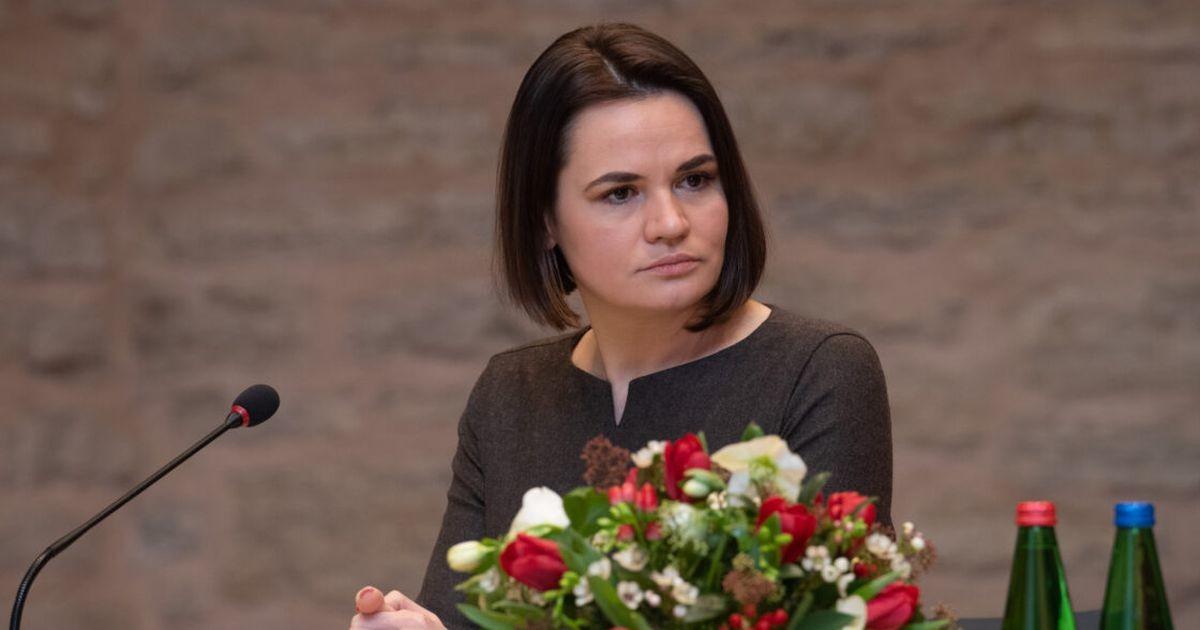 Светлана Тихановская призвала народ Эстонии поддержать задержанных и репрессированных белорусов