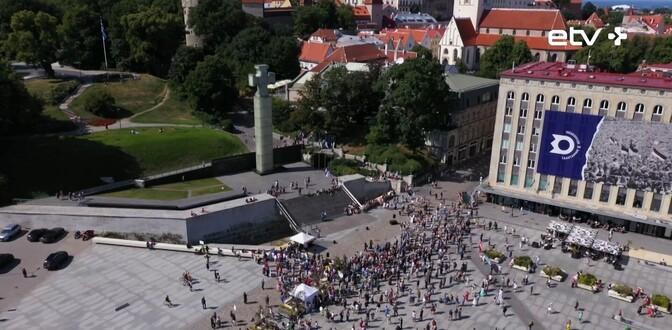 В Таллинне состоялась очередная акция протеста против вакцинации