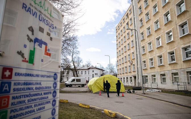 В Таллинне две трети койкомест в отделениях для пациентов с коронавирусом уже заняты