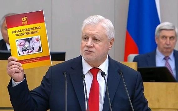 Лидер социалистов Сергей Миронов объяснил, почему среди бедных так много семей с детьми