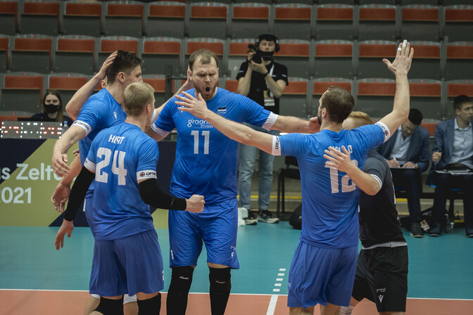 Золотая лига: эстонские волейболисты в полуфинале встретятся с командой Турции