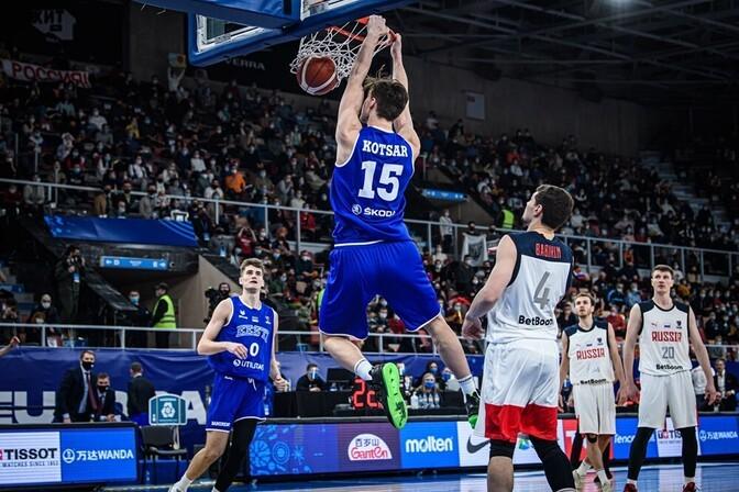 Сборная Эстонии по баскетболу проиграла России