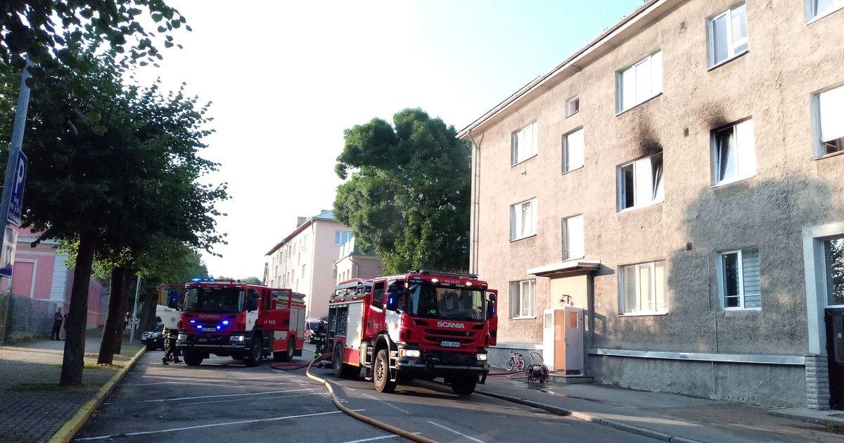 На пожар в Нарву пришлось отправлять команды из Тапа, Локса и Алатскиви: в Ида-Вирумаа не было свободных спасателей