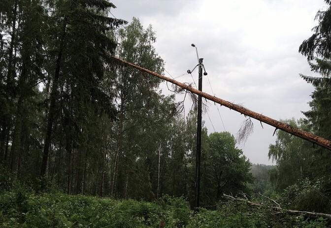 Около 1700 домохозяйств Харьюмаа остаются без электричества