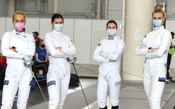 Эстонские шпажистки выиграли золото командного олимпийского турнира