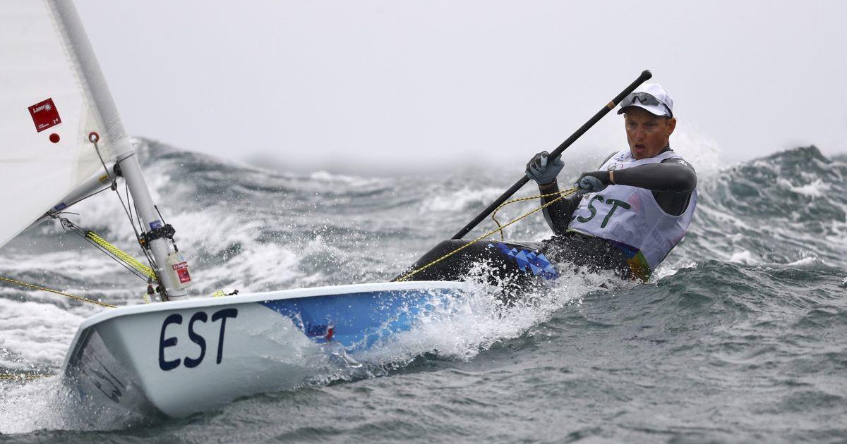 Эстонский яхтсмен, выигравший две гонки, вышел в Токио на лучшее в своей карьере место