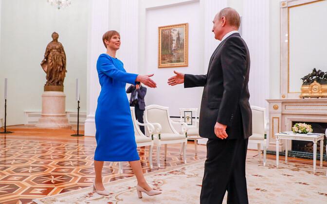 Зарубежные лидеры начали поздравлять Кальюлайд с Днем независимости, прислал открытку и Путин
