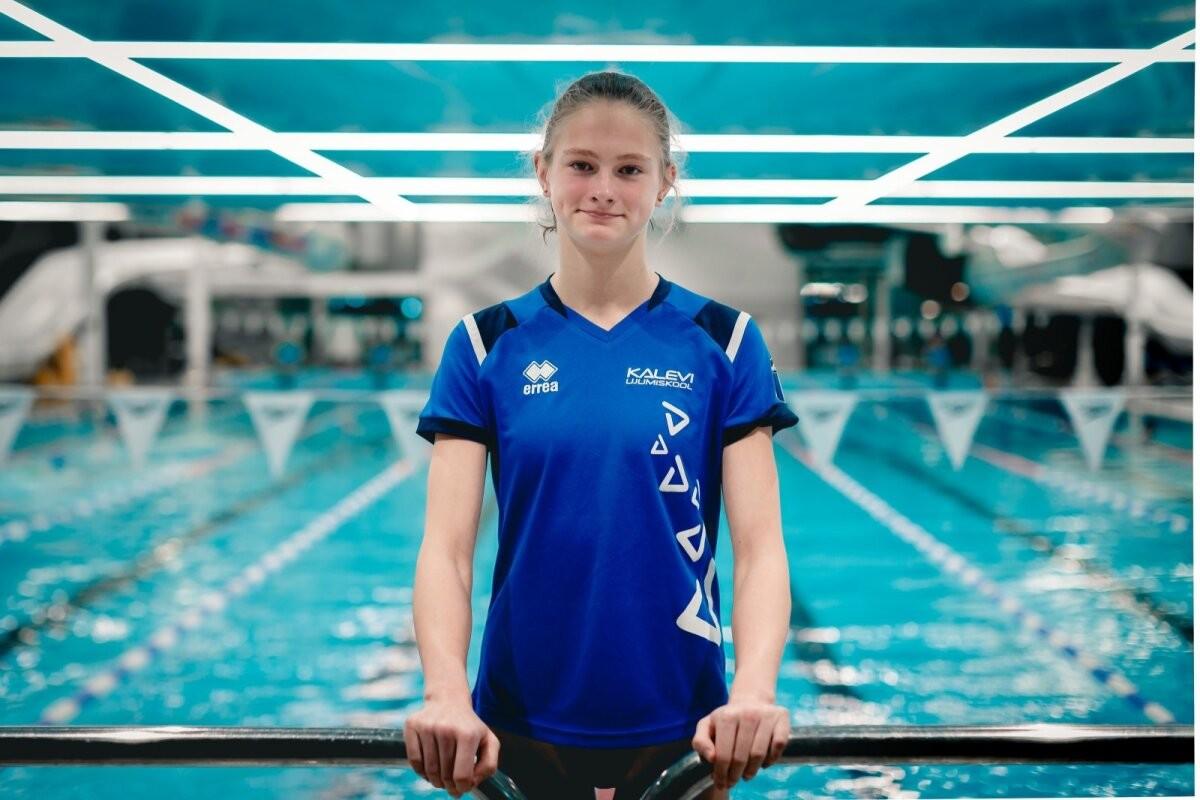На Олимпиаду в 14 лет! Энели Ефимова установила очередной рекорд Эстонии