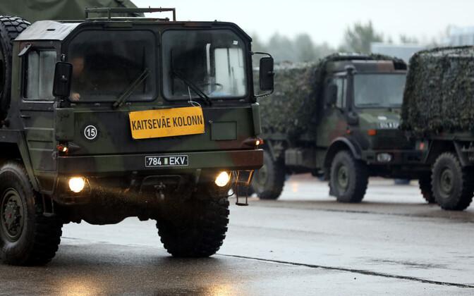 В течение двух дней по дорогам Эстонии будут передвигаться колонны Сил обороны