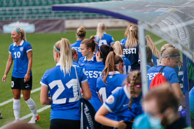 Эстонские футболистки надеются дать бой Словении на старте квалификации ЧМ