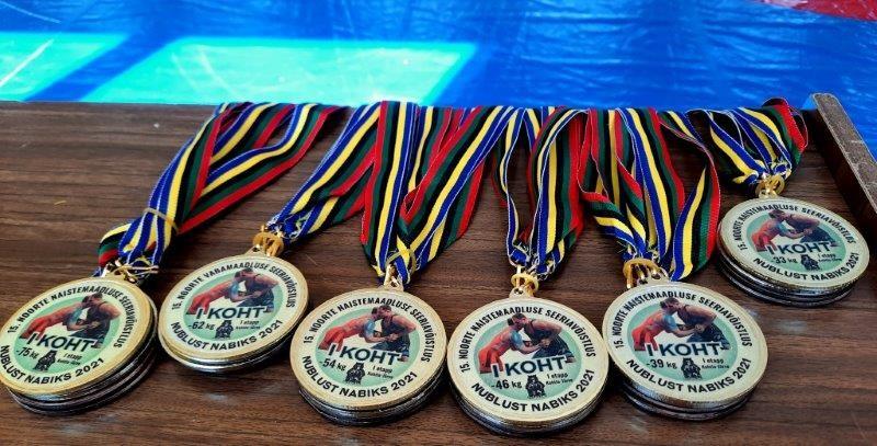 В Кохтла-Ярве прошел первый этап молодежного соревнования по борьбе Nublust Nabiks