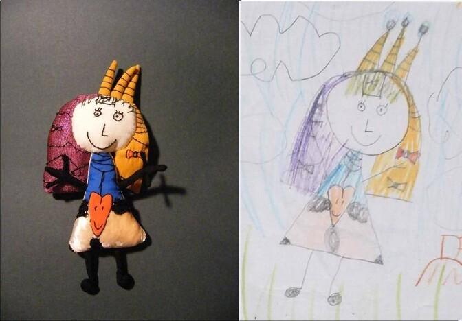 ФОТО: Тийа Метс создала кукол по детским рисункам