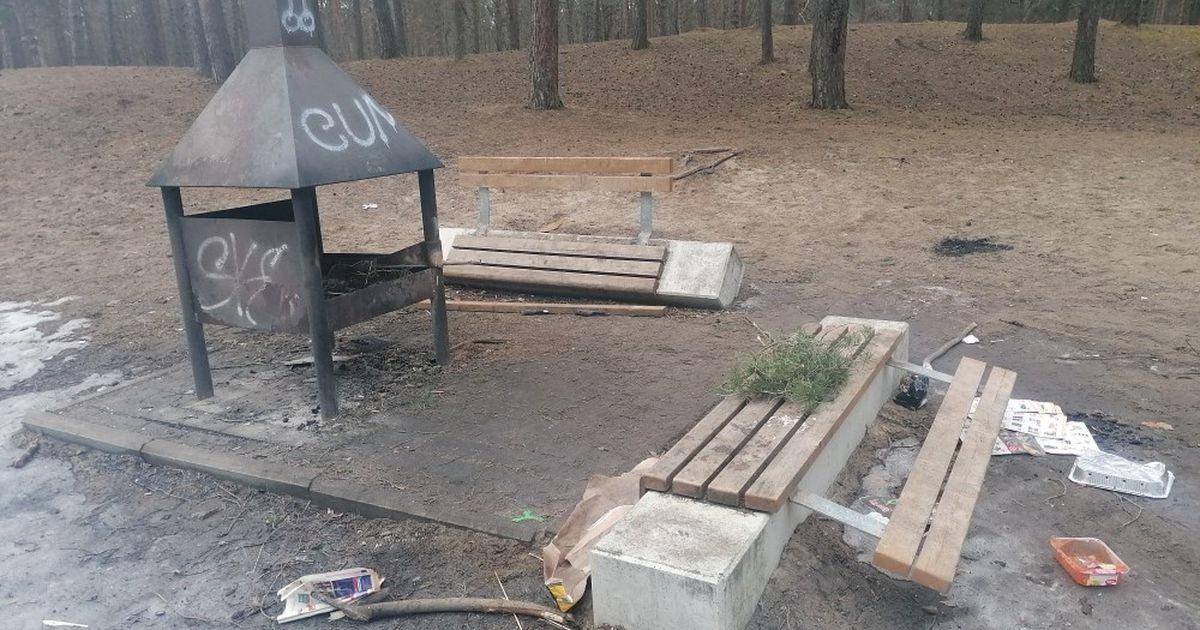 Сломали скамейки, испортили инвентарь: управа Мустамяэ просит помощи в установлении личности вандалов