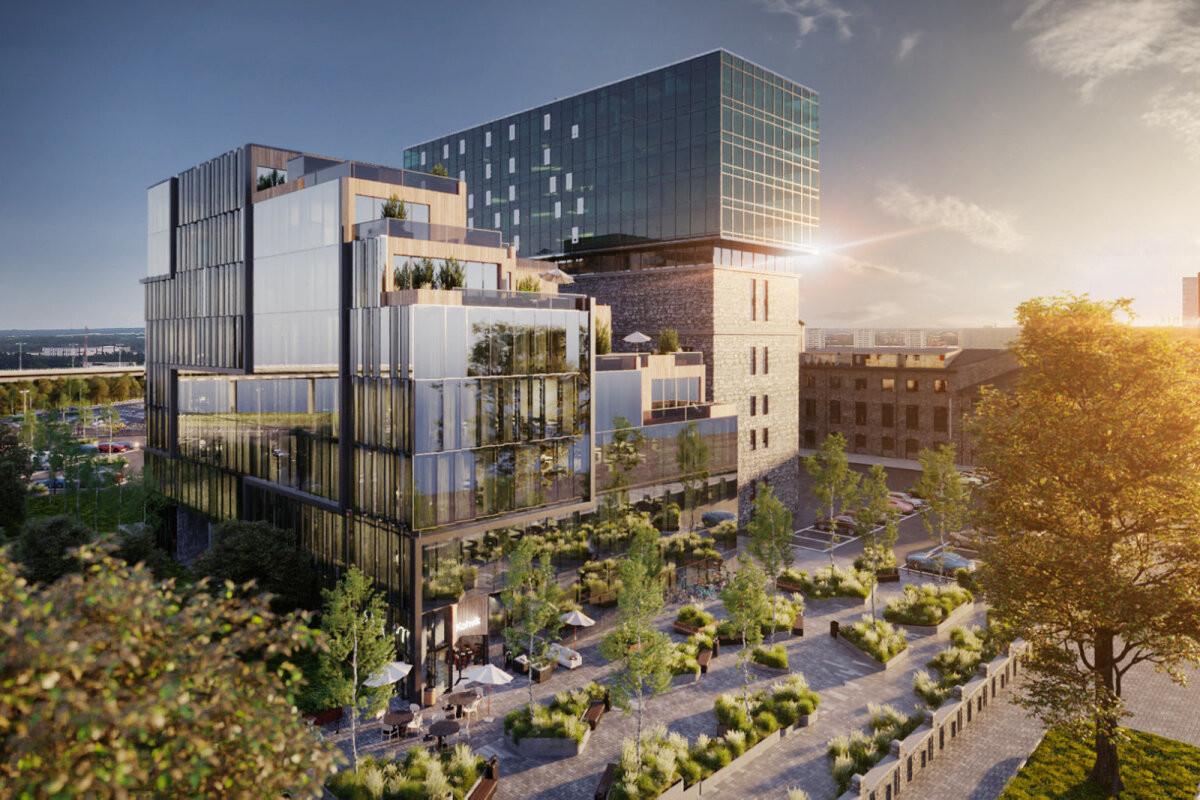ФОТО | Новое расширение Fahle Park: на Тартуском шоссе появится площадь с озеленением и здание с террасами