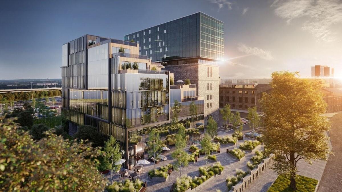 Fahle Park: на Тартуском шоссе появятся сквер и здание с террасами