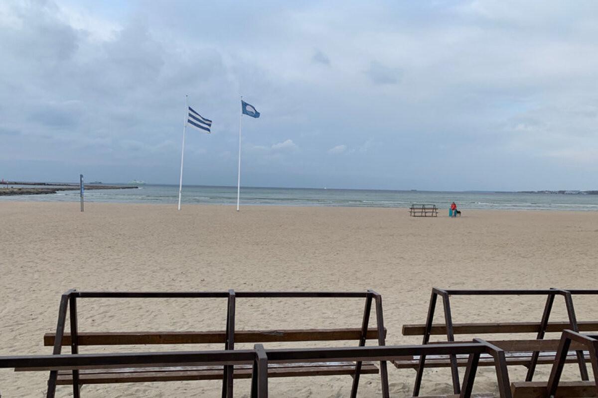 На пляже в Пирита начался осенне-зимний сезон. На сей раз он будет особенным